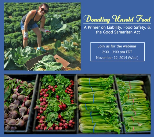 Donating Unsold Food Webinar